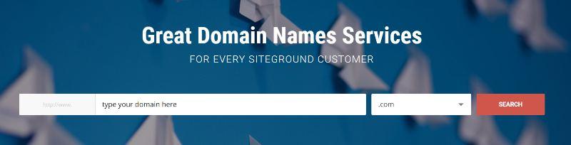 Domain Register Siteground
